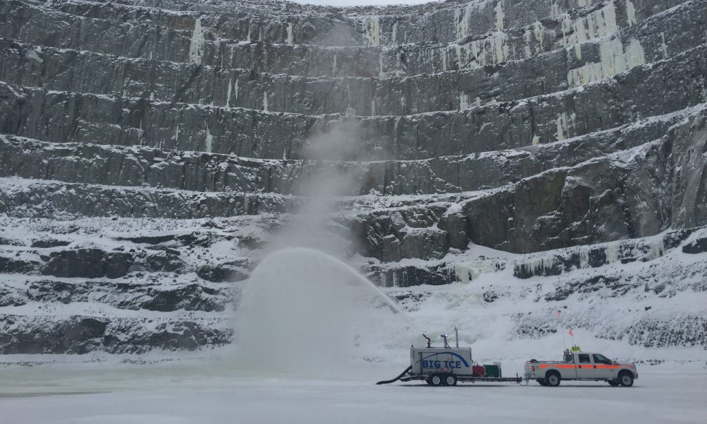 Pit Ice Drilling