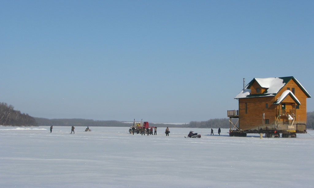 House Move on Ice Road